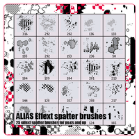 Alias spatter effect pack 1 by xALIASx