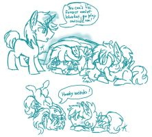 MLP: Family sketches by KikiRDCZ