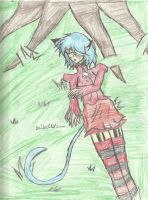 Sleep by a tree .:colored:. by bribells2000