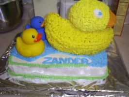 Rubber Ducky Cake by Robison300