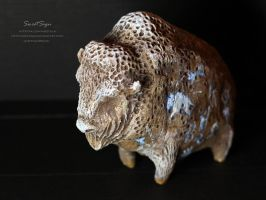 Animals-Stones: Bison by SweetSign
