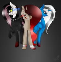 Lady Jiss,Freakshow and Miss Angry [warning:Blood] by Nathy2001