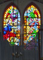 Church organ and stained glass by harlia
