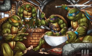TMNT Groupshot by AlonsoEspinoza