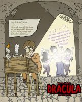 Dracula in one panel by mapacheanepicstory