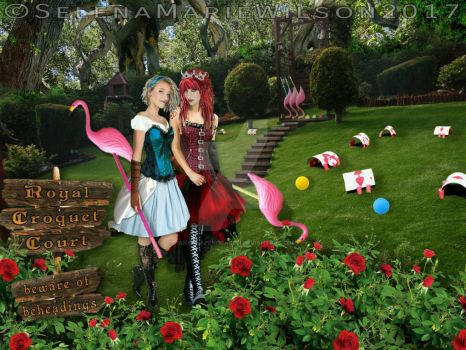 Alice and The Queen of Hearts  by PandoraPendragon
