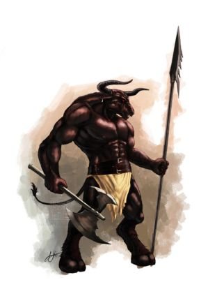 Minotaur-coloured