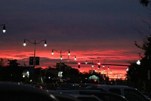 Bloody Sunset Rehoboth Beach by Valerhon