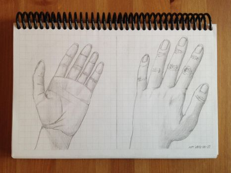 Left Hand Practice 20150827 by MaskedPerson93