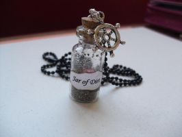 Jar of Dirt bottle charm necklace by InsaneJellyBean95