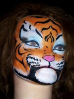 Tiger girl face paint by KyleCrocodile