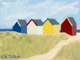 Beach Huts by VATalbot