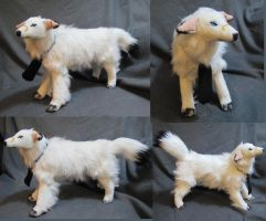 Borzoi Dog Breed Tom Plush Toy Commission by Jarahamee