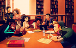 Commission: Study Session at Library by student-yuuto