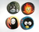 Ghibli studio button pack by michellescribbles