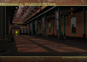 Steam Mechwarrior Repair House by Tafari-Studios