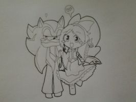 Chibi Couple - Lizzie n' Lucifer by Music-Lovette123