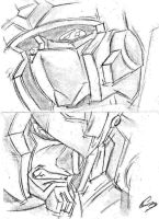 Armada Prime and Megatron by Deceptigirl