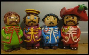 Sgt. Peppers clay miniatures by Tigers13