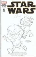Gravity Falls Star Wars Cover by RadPencils