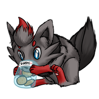 Fluffy Zorua w/ Cookies -request- by AminoNoodle