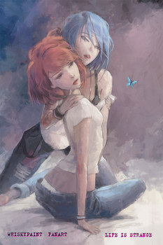 Blue butterfly by whiskypaint