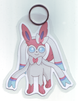 Sylveon Keychain by BlueSmudge