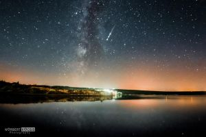 Bay, milky way and the shooting stars by NorbertKocsis