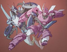 Whirl vs Cyclonus by ai-eye