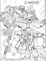 Devastator and Megatron by Whelljeck