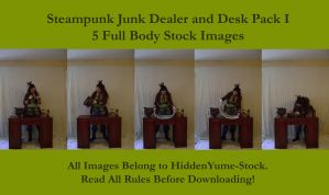 Steampunk Junk Dealer + Desk I by HiddenYume-stock