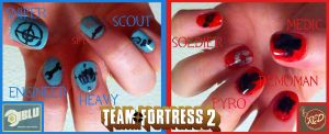 Team Fortress 2 Nail Art by Azralorne