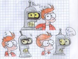 Fry and Bender:Best Friends by TheSyFyFan