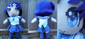 Sailor Mercury Plushie by frillycarnival