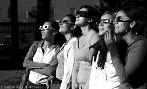 watching the eclipse by fada