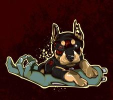 Zombie Pup by nosmallvictories