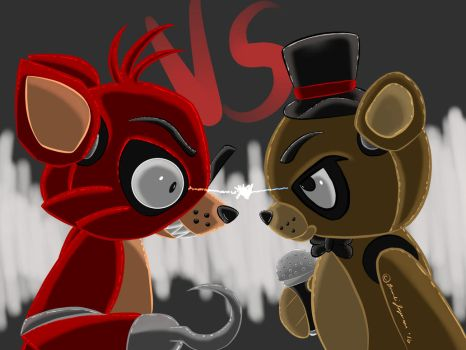 Freddy VS. Foxy by Shadow-Dragon91