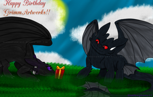Happy (Early) Birthday GrimmArtworks!! by Shadowphonix11