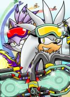 :COLORED: Silver and Blaze Riders by Dogwhitesector