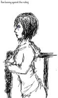 Xion sketch on paint by Aroselia
