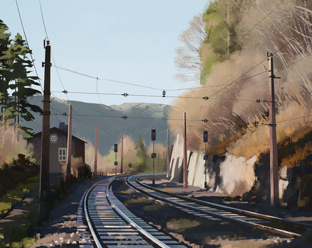 Railroad by zherebinix