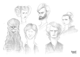 Star Wars Caricatures by LorenzoSabia
