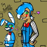 Toy Bonnie! (FNaF human AND Robot!) by YaoiLover113