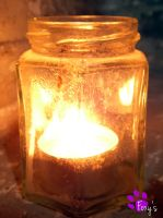 Candlelight in a Jar (05.05.13) by LacedShadowDiamond
