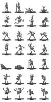 Strong Poses Thumbnails by LuckySquid