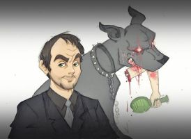 Crowley and Hellhound 2 by BewitchedCat
