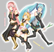 Vocaloid girls by NamiYami