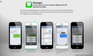 iOS 7 Messages's features by WillViennet