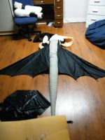 Toothless WIP - Tail by Tsukune