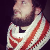 Pumpkin Spice Cross Stitch Infinity Scarf by OmniscientCucumber